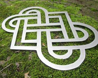 Celtic Knot Love Irish Welsh Celtic Endless Knot, Gaelic, Wedding, Wall Art, Home Decor, Good Luck, Celtic Banner, Gift, Knot