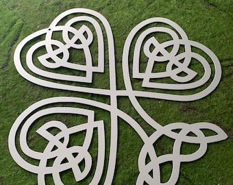 Celtic Knot Clover, Shamrock, Ireland, Holy Trinity, Irish, Sign, Celtic Knot, Holy Trinity, Luck, Lucky, Hope, Saint Payrick, Wall Decor