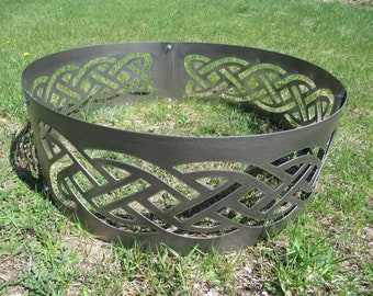 Celtic Band Fire Ring,Celtic Knot Banner, Endless Knot, Gaelic, Irish, Welsh, Knot, Celtic