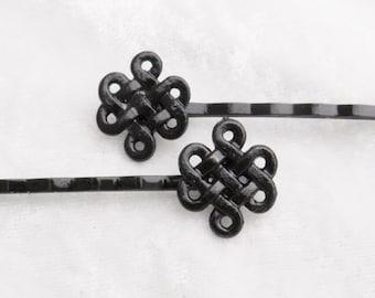 Celtic Knot Bobby Pin Pair hair pins