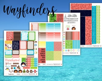 Wayfinders Weekly Planner Stickers Kit - for use with Erin Condren - Happy Planner - Moana Stickers