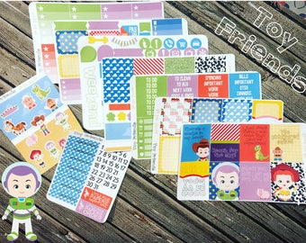 Toy Friends Weekly Planner Sticker Kit - for use with Erin Condren - Happy Planner Toys