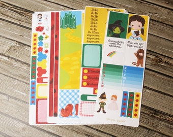 Dorothy Oz Weekly Planner Full Kit - Planner Stickers - for use with Erin Condren Life Planner - Happy Planner
