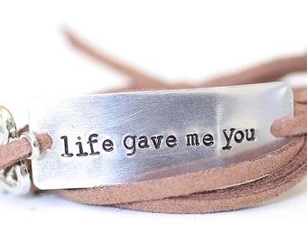 life gave me you, adoption jewelry, adoption bracelet, adoptive mom, foster parent, adoption gifts, adoption charm, adoption day, adopt