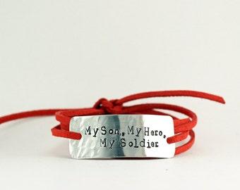 fc3ca5dce2c my son, my hero, my soldier, army mom bracelet, military mom jewelry, army  mom, deployment jewelry for mom, chrismas gift, army soldier