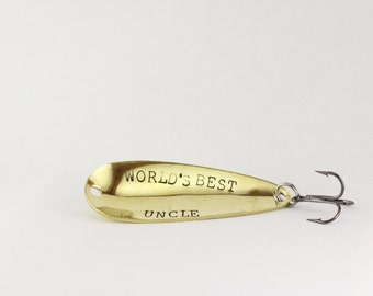 uncle fishing lure, uncle gift, best uncle,  pregnancy reveal, uncle, brother gift, engraved fishing lure, fishing lure, custom fishing lure
