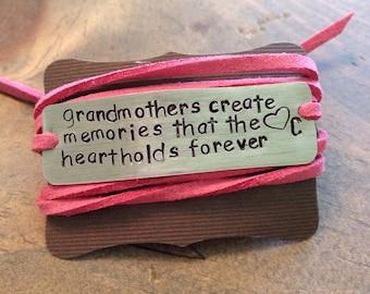 grandmother bracelet, grandma gift, mothers day, grandmother, grandma gift, granny, christmas gift grandma, i love grandma