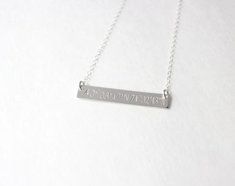 long bar necklace personalized bar necklace new mom mommy jewelry, silver bar necklace, silver bar necklace, christmas gift, initial jewelry