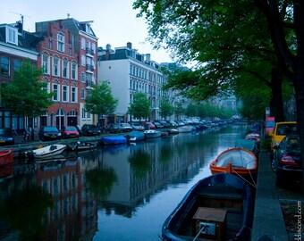 "Fine Art Photography Print- ""Amsterdam Canal"""