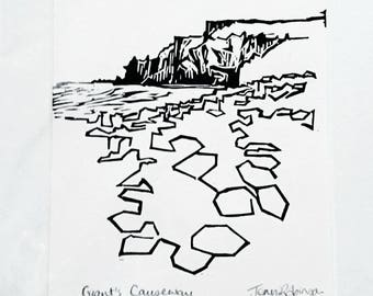 landscape panorama print of sunset on strangford lough etsy Forest Ireland hand printed original linocut print of giant s causeway northern ireland mounted total size a4