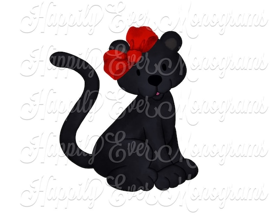 Watercolor Panther Digital Artwork PNG
