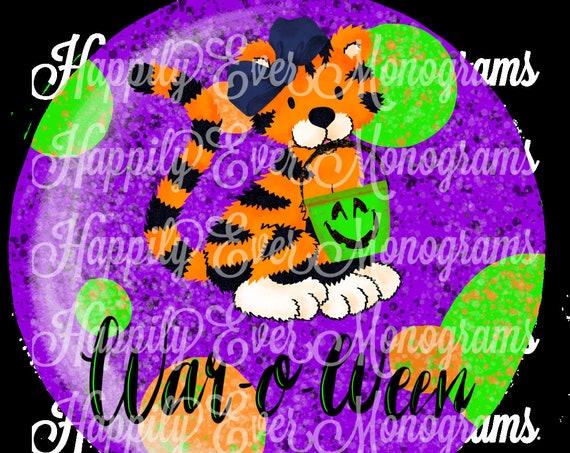 Halloween Tiger Digital Artwork PNG