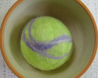 Fetch2.5!  Alpaca and Wool Fiber Dog Toy Ball in Wisteria Swirl