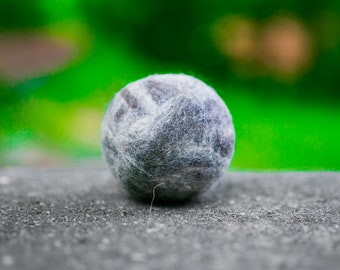 Fetch3.5!  Alpaca Dog Toy Ball in Natural Blue Faced Leicester Wool DYE FREE
