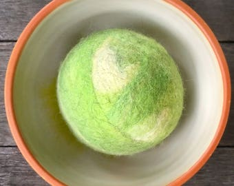 Fetch2.0!  Alpaca and Wool Fiber Dog Toy Ball in Shamrock