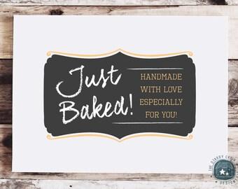 Hand Drawn Logo Design - Customizable - Chalkboard - Script - Learning - Food Blog
