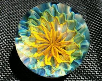 "1.41"" Handmade Marble by ~Ethan Lesch~  Borosilicate, Boro, Art glass, MIB"
