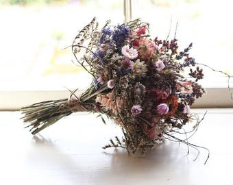 Dried Bridal Posy - The Woolhope Wedding Collection