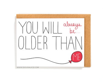 funny birthday card old card greetings card friend brother sister mum mother dad happy birthday celebration getting old old person cards
