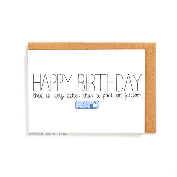 Funny Birthday Card Facebook Card Greetings Card Friend