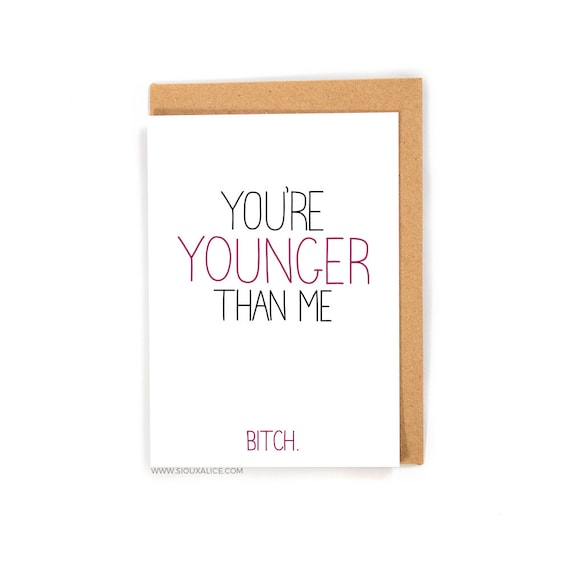 Funny Birthday Card Old Greetings Friend Brother