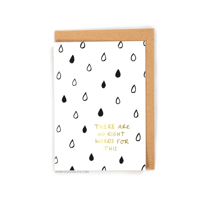 No words card - Thinking of you - Get well soon, sympathy greetings card  illness card feel better divorce sickness cards cancer break up