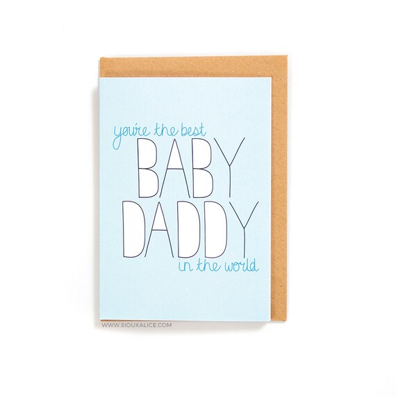 Funny Fathers Day Card Baby Daddy Happy Birthday