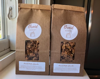 Homemade Granola Two Pack   Healthy Granola Food Gift   8 Ounce Bags   Great Gift for Family and Friends