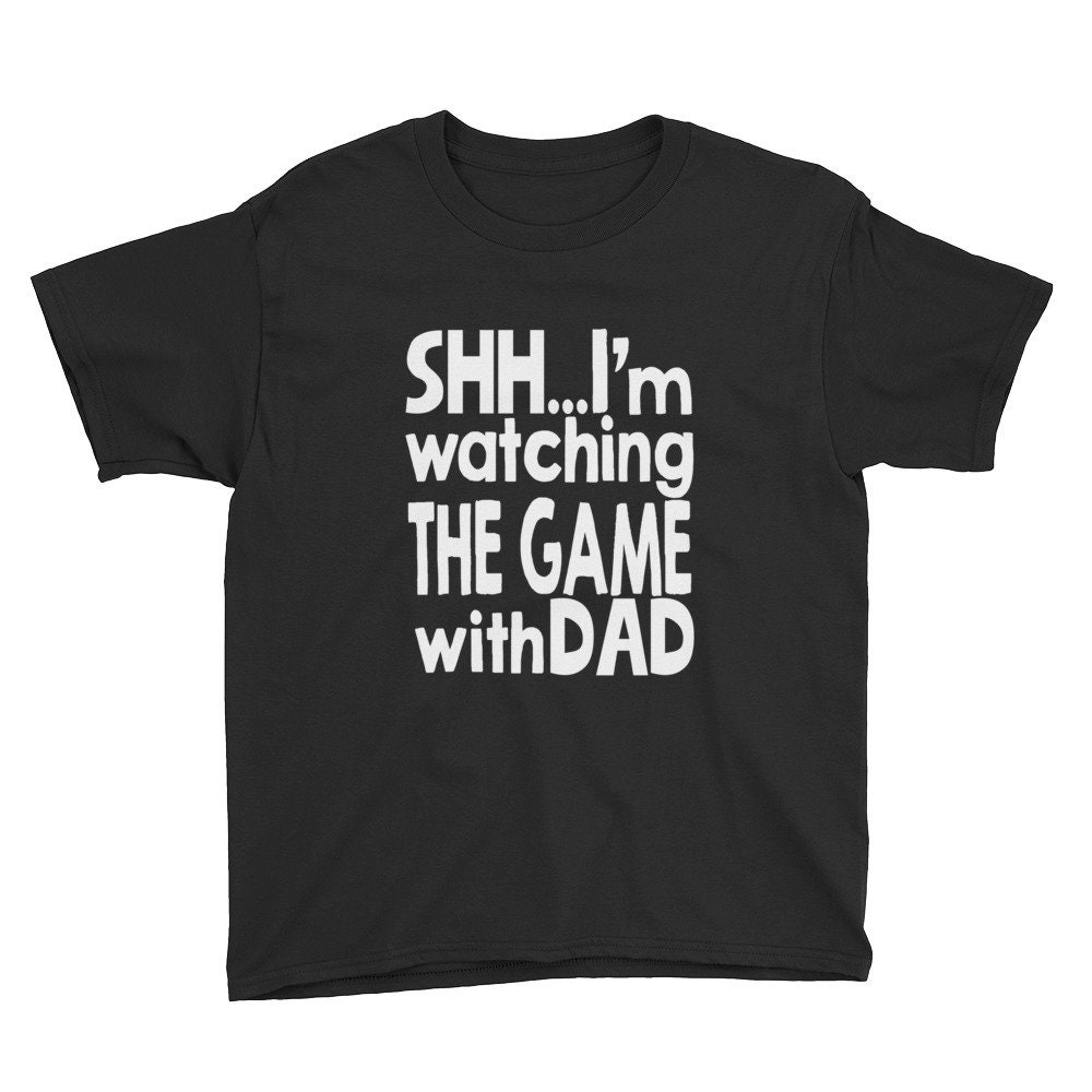 37dbcb3d9caf Watching the Game with Dad Youth Short Sleeve T-Shirt