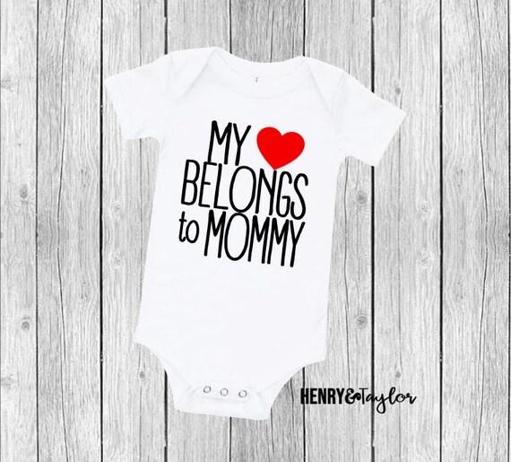 I Stole Mummy/'s Heart Valentines Boys Baby Grow Vest Bodysuit