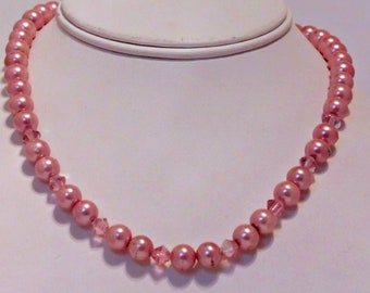 Pink Pearl Magnetic Therapy Choker