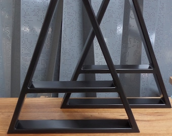 Triangular table bases. Perfect height for a dining table or side table.