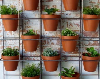 Vertical garden stand. Modern design with an industrial look and feel.