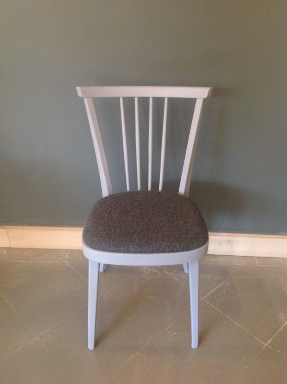Grey-violet kitchen chair with Upholstery