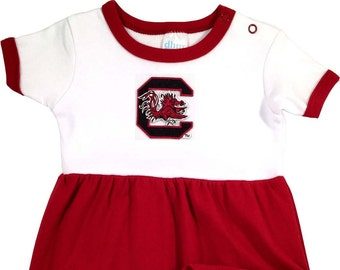 d08ecfb19 South Carolina Gamecock Baby Bodysuit Dress