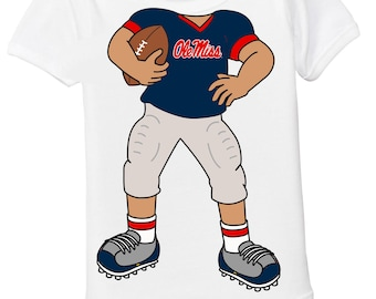 Mississippi Ole Miss Rebels Heads Up! Football Baby Bodysuit