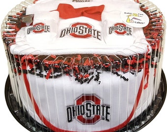 Ohio State Custom Baby Bedding 6 Pc Set With Football