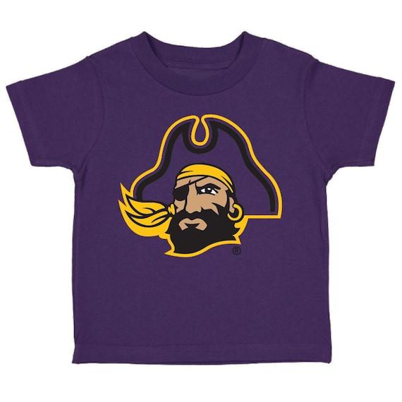 Future Tailgater East Carolina Pirates Baby//Toddler Shabby Flower Hair Bow Headband