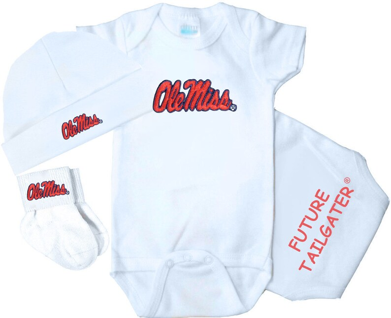 Mississippi Rebels 3 Piece Baby Clothing Gift Set