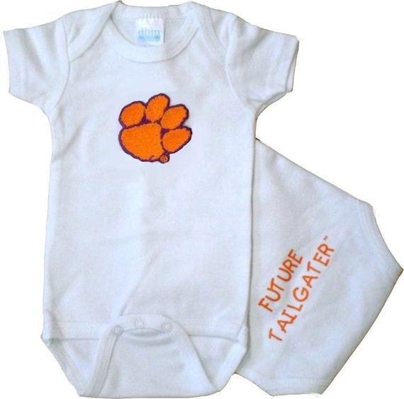 Future Tailgater Clemson Tigers LOGO Baby//Toddler T-Shirt