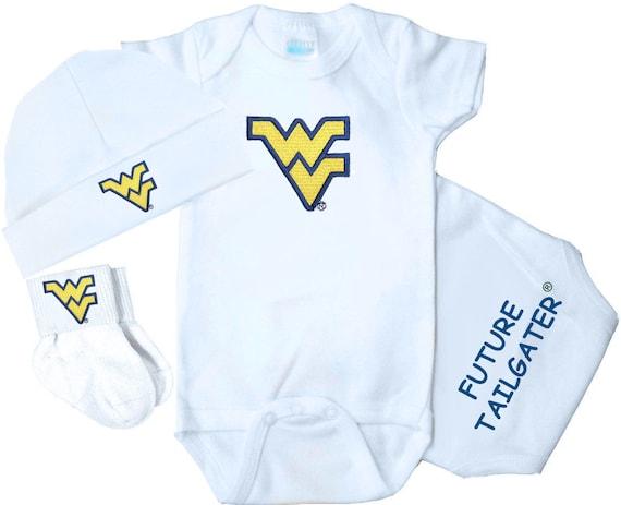 West Virginia Mountaineer/'s Light Blue T-Shirt Multi Sizes