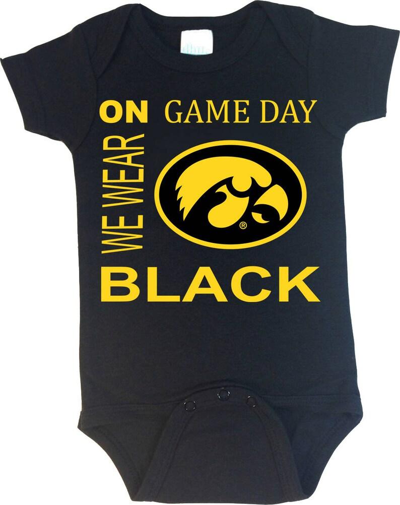 e01bcb58288 Iowa Hawkeye On Game Day Baby Bodysuit | Etsy