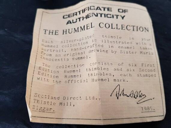Collection de 11 HUMMEL 1ère et 2ème édition émail à plaqué argent dés à émail coudre 5556cb