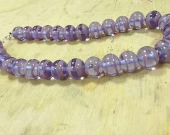 Necklace violet and lavender