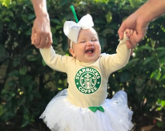 Frappe Baby Costume Newborn Coffee Halloween Costumes Mommy and Me Costumes Baby Girl Tutu Costume Frappuccino  sc 1 st  Etsy : baby and mommy costumes  - Germanpascual.Com