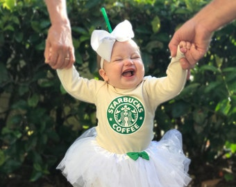 Frappe Baby Costume Newborn Coffee Halloween Costumes Mommy and Me Costumes Baby Girl Tutu Costume Frappuccino  sc 1 st  Etsy & Baby girl halloween costume | Etsy