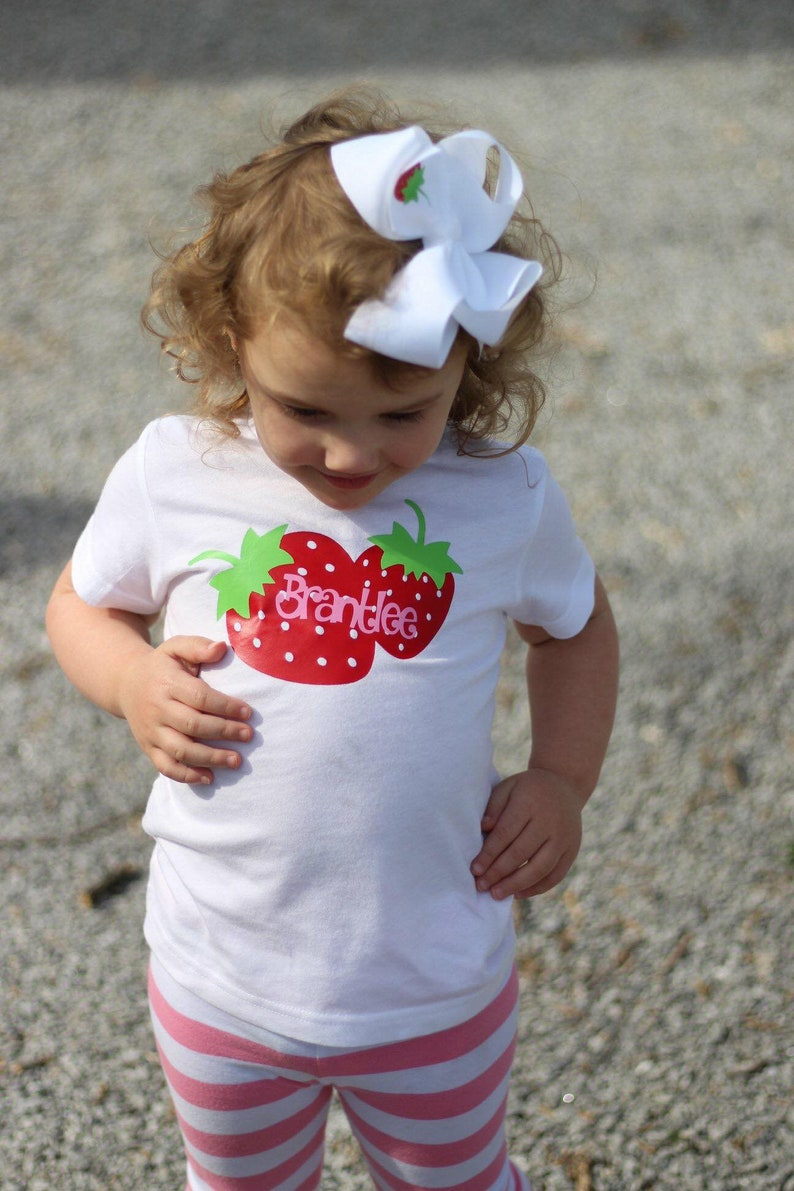 d44c8ff23 Girls Summer Shirt Strawberry Birthday Outfit Baby Girl Summer | Etsy