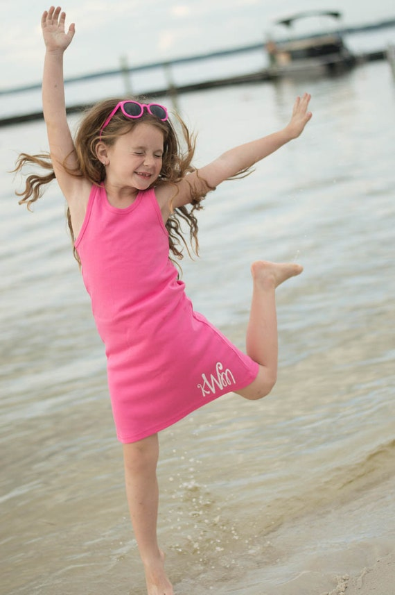 d1cc665925 Girls Swimsuit Coverup Monogrammed Swim Cover Up Monogram | Etsy