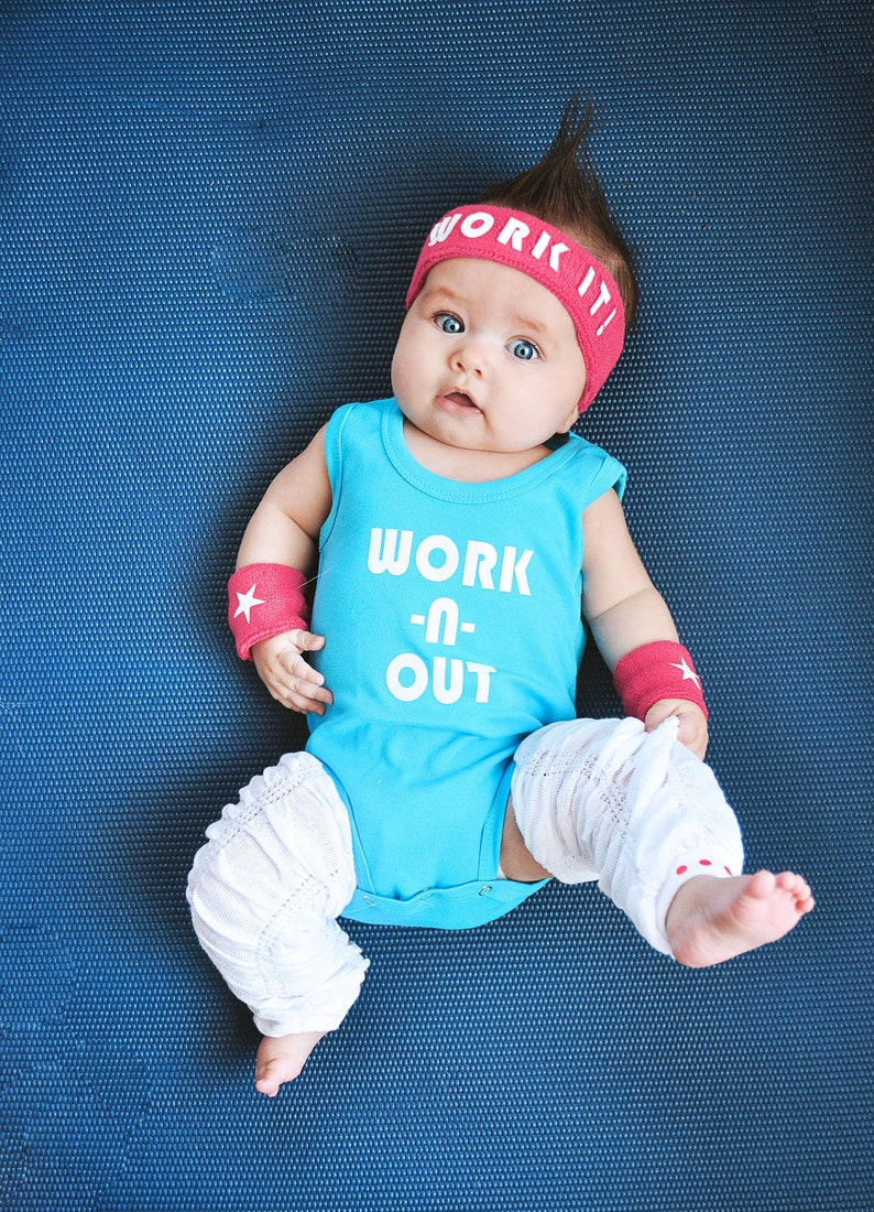 Workout Baby Costume 80s Birthday Outfit Infant Girl Costume  21d9f8974