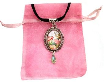 floral gift for her flower fairy jewellery Romantic faerie flower necklace
